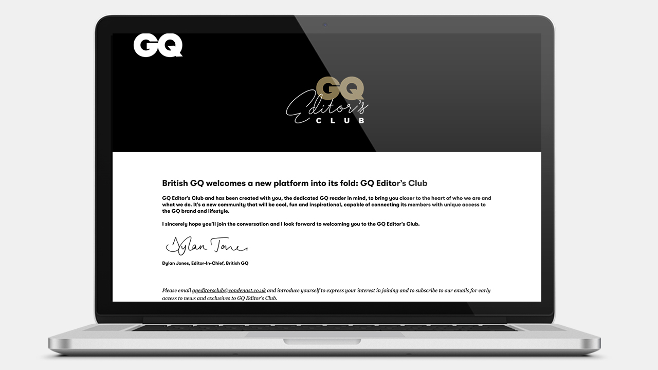 GQ Editor's Club Website
